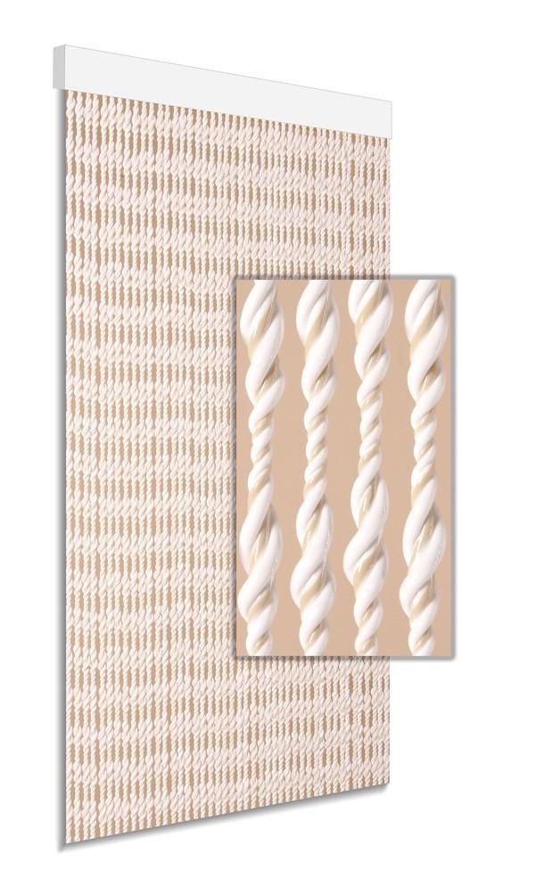 DEGOR Vliegengordijn Ember: wit beige