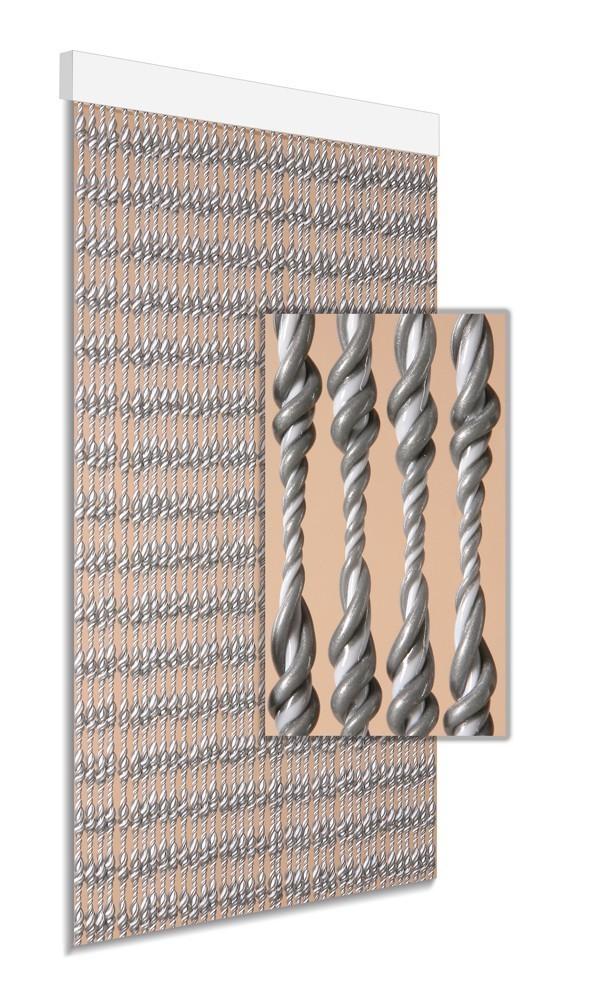 DEGOR Vliegengordijn Ember: grijs wit