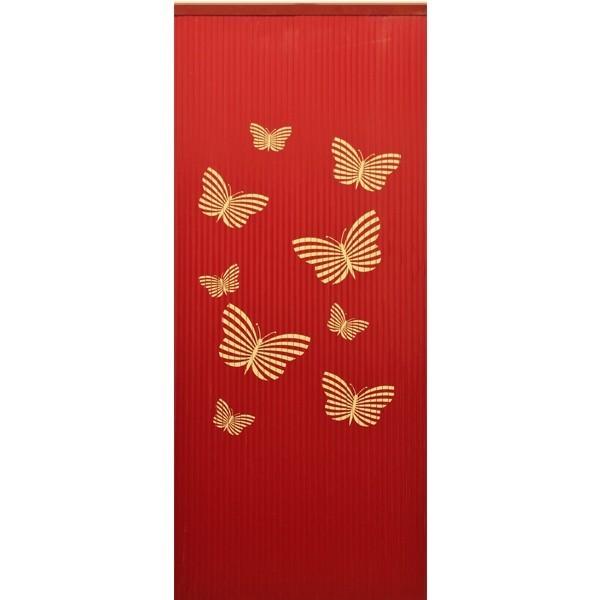 DEGOR Lamel Vliegengordijn Vlinder rood
