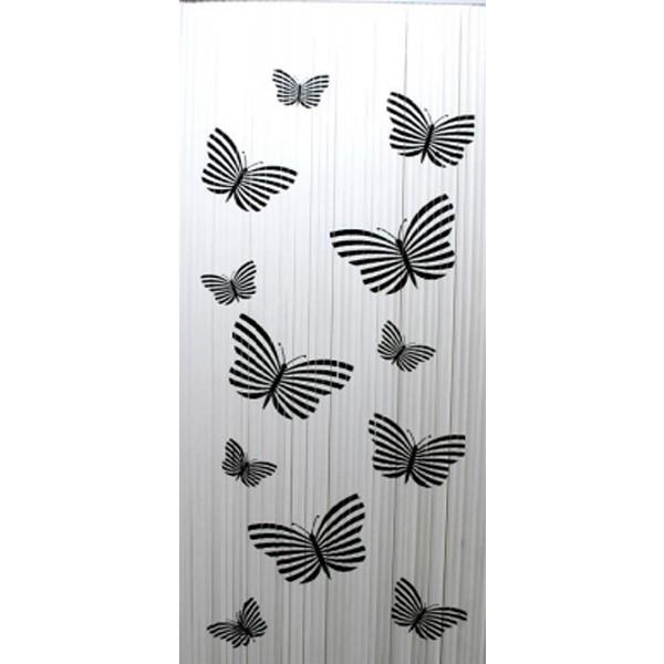 DEGOR Lamel Vliegengordijn Vlinder zwart wit