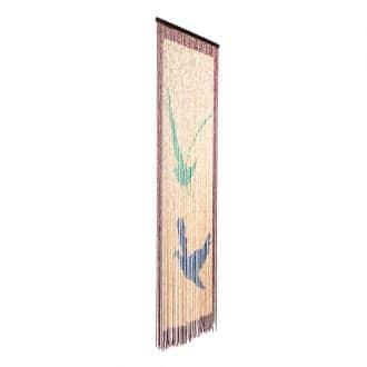 Vliegengordijn houten kralen: Sunsetjn houten kralen: Birds