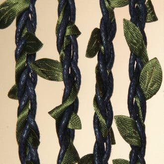 Leaves blauw 100x220
